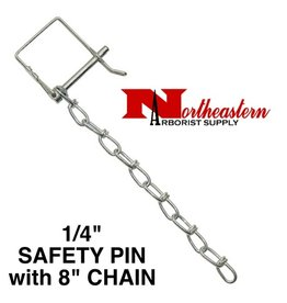 "Buyers PIN & CHAIN for HITCH 1/4"" Diameter (Safety Pin Clip with 8"" Chain Installed)"