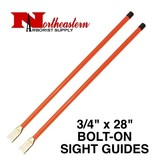 "Sight Guides with Hardware, 3/4"" x 28"" Heavy Duty Fluorescent Orange"