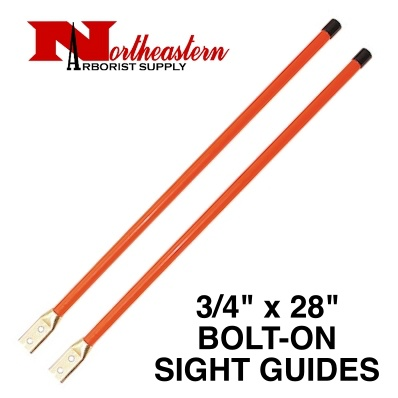 "Buyers Sight Guides with Hardware, 3/4"" x 28"" Heavy Duty Fluorescent Orange"