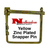 "Buyers Pin, 1/4"" Diameter x 3"" Usable, Yellow Zinc Plated, Snapper Style Pin"