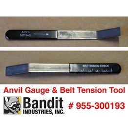 Bandit® Parts Anvil Gauge & Belt Tension Tool Drum Models 280/254/255/1590/1850/1890 18XP 19XP, 955-300193