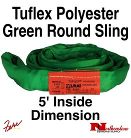 Lift-All® Tuflex Roundsling, 5 FT Green Polyester