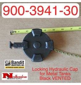 Bandit® Parts Locking Hydraulic Cap for Metal Tanks, Black VENTED, 900-3941-30