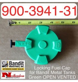 Bandit® Parts Locking Fuel Cap for Bandit Metal Tanks, Green OPEN VENTED 900-3941-31