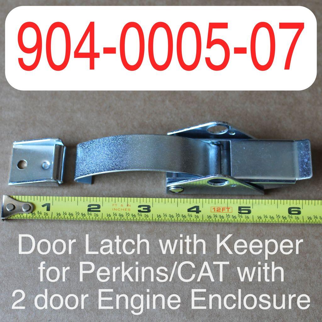 Bandit® Parts Latch, Engine Door with Keeper for Perkins/CAT with 2 door Engine Enclosure 904-0005-07