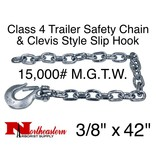 """Buyers Safety Chain, 3/8"""" x 42"""" w/Forged Clevis Slip Hook. 15,000#"""