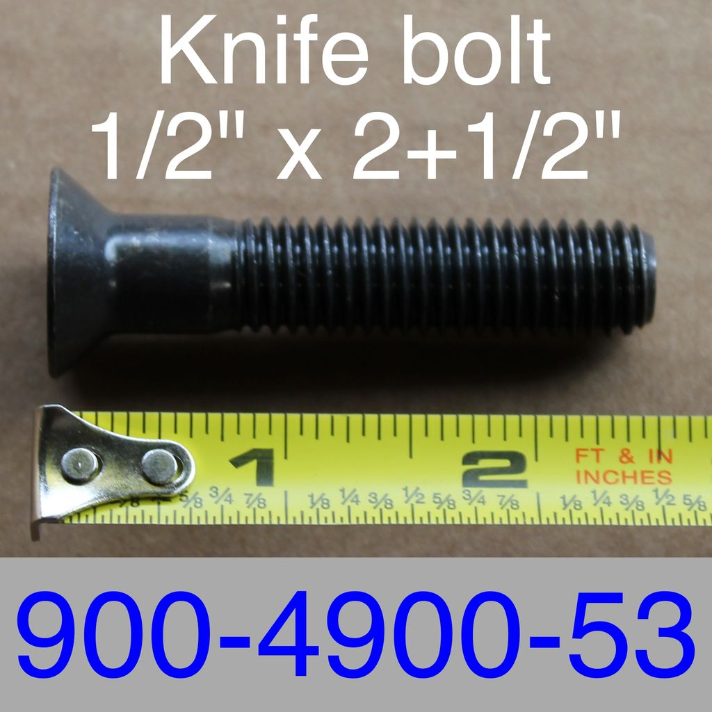 """Bandit® Parts Blade Bolt 1/2"""" x 2+1/2"""" Long, use with 3/8"""" Thick Blades Only 900-4900-53"""