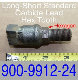 Bandit® Parts Long-Short Standard Carbide Lead Hex Tooth, 900-9912-24