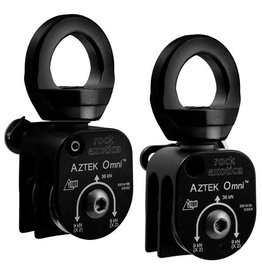 Rock Exotica AZTEK Pulley Set (2 Pulleys, 1 Pin, 1 Cover) - Black