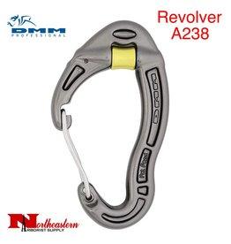 DMM Carabiner, Revolver Wiregate, Accs. 24Kn Not PPE Titanium Color