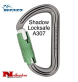 DMM Carabiner, Shadow Locksafe, 24Kn Titanium/Green Color