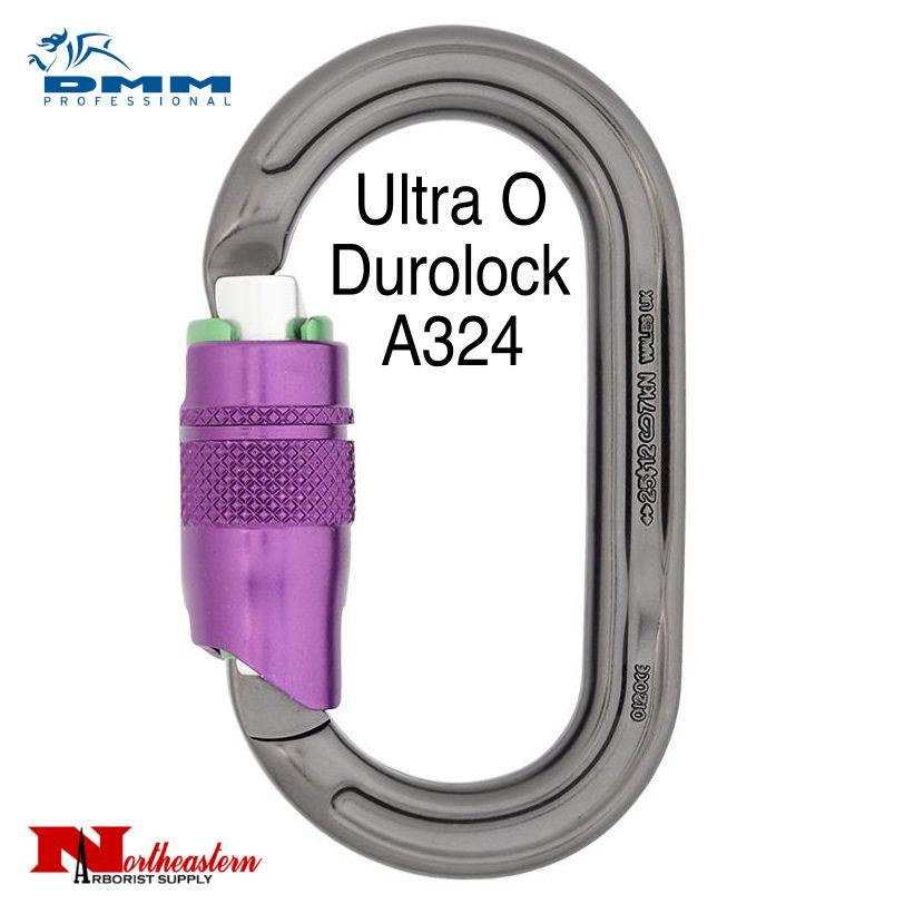 DMM Carabiner, Ultra O Duralock, 25Kn Titanium/Purple Color