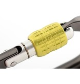 DMM Carabiner, Ultra O Screwgate, 25Kn Titanium/Lime