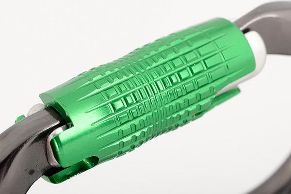 DMM Carabiner, Rhino Locksafe, 27Kn Titanium/Green Color