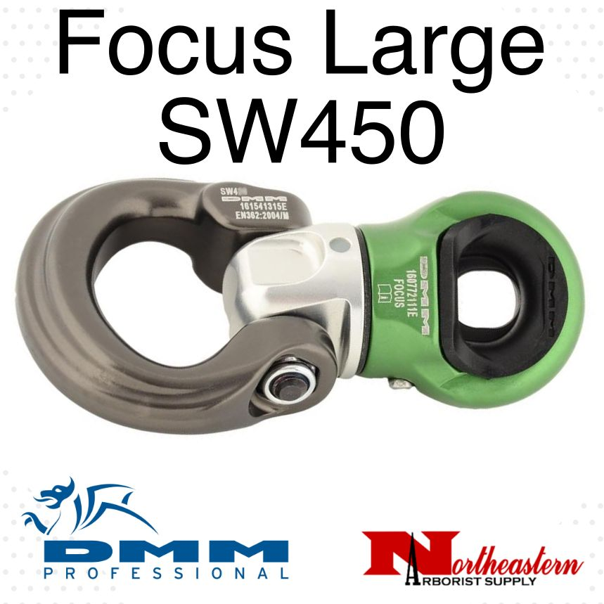 DMM Focus Swivel, Large Silver/Green Color