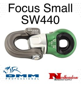 DMM Focus Swivel , Small, Titanium/Green Color