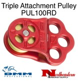 DMM Triple Attachment Pulley, Red Color