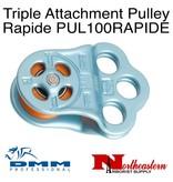 DMM Triple Attachment Pulley Rapide, Light Blue Color