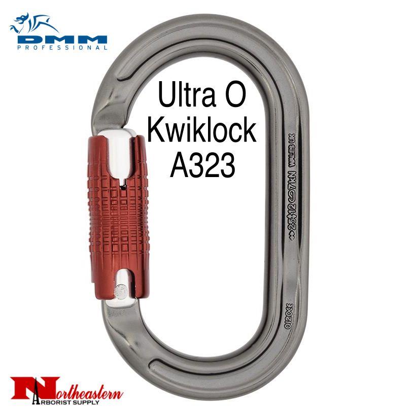 DMM Carabiner, Ultra O Kwiklock, 25Kn Titanium/Red Color