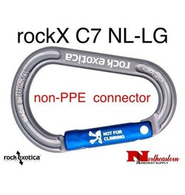 Rock Exotica Carabiner, rockX Accessory (Light Gray) *Not for climbing