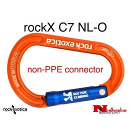 Rock Exotica Carabiner, rockX Accessory (Orange) *Not for climbing
