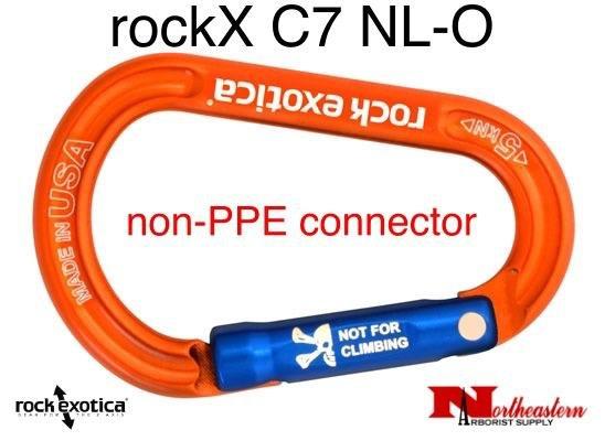 Rock Exotica Carabiner, rockX Accessory (Orange) *Not for climbing