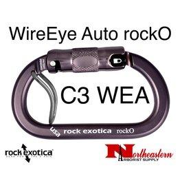 Rock Exotica Carabiner, rockO WireEye Auto-Lock