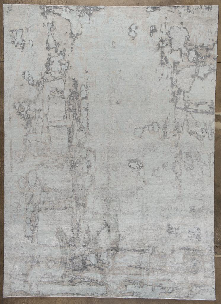 Pillar, White Gray Powder Blue 9x12