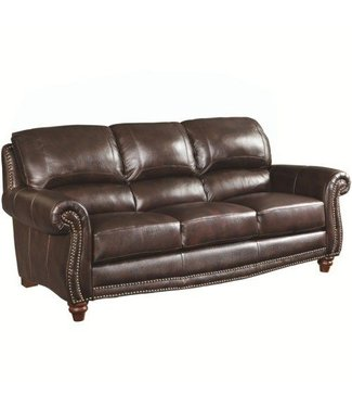 Coaster Lockhart Leather Sofa