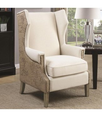 Burlap Accent Chair