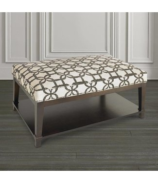 Bassett Furniture HGTV Custom Rectangular Ottoman w/ SHelf