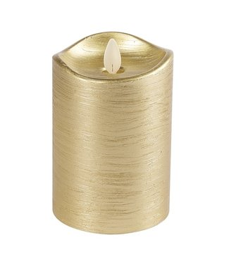 3x5 Wax LED Pillar Candle (Gold)