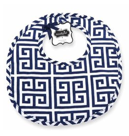 Mud Pie MP Navy Greek Key Bib