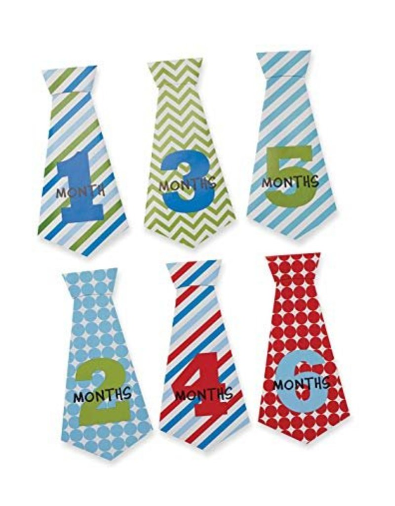 Mud Pie Mud Pie Boy Milestone Tie Stickers