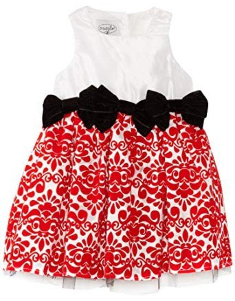 Mud Pie Mud Pie Red Damask Dress