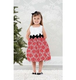 Mud Pie MP Red Damask Dress