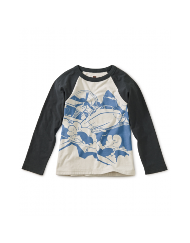 tea collection Turbo Prop Graphic Raglan Tee