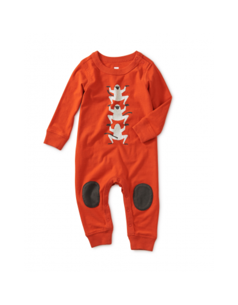 tea collection Monkey Graphic Knee Patch Romper