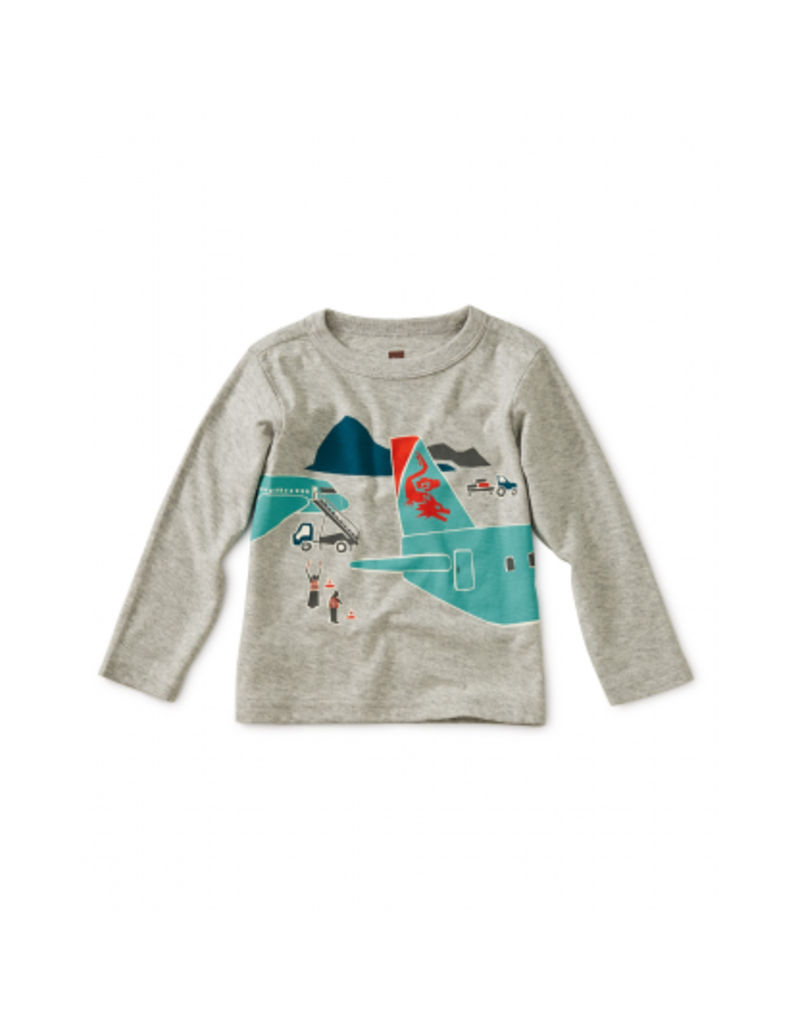 tea collection Plane Trip Graphic Baby Tee