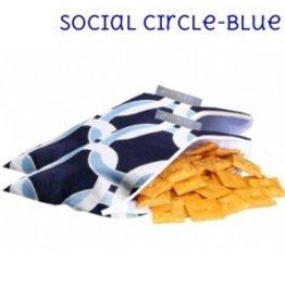 Itzy Ritzy IR Mini Snack Bag- Social Circle (Blue)