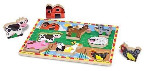 Melissa and Doug Melissa & Doug Chunky Puzzle- Farm