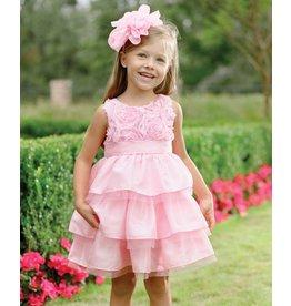 Mud Pie MP Pink Faux Silk Dress