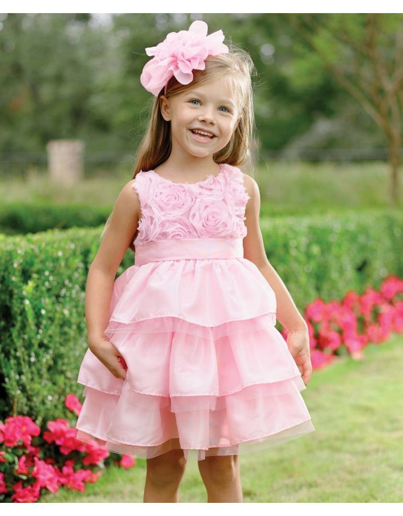 Mud Pie Mud Pie Pink Faux Silk Dress