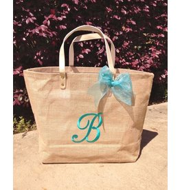Mud Pie Solid Jute Tote Bag