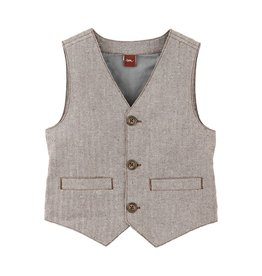 tea collection Schuler Herringbone Vest