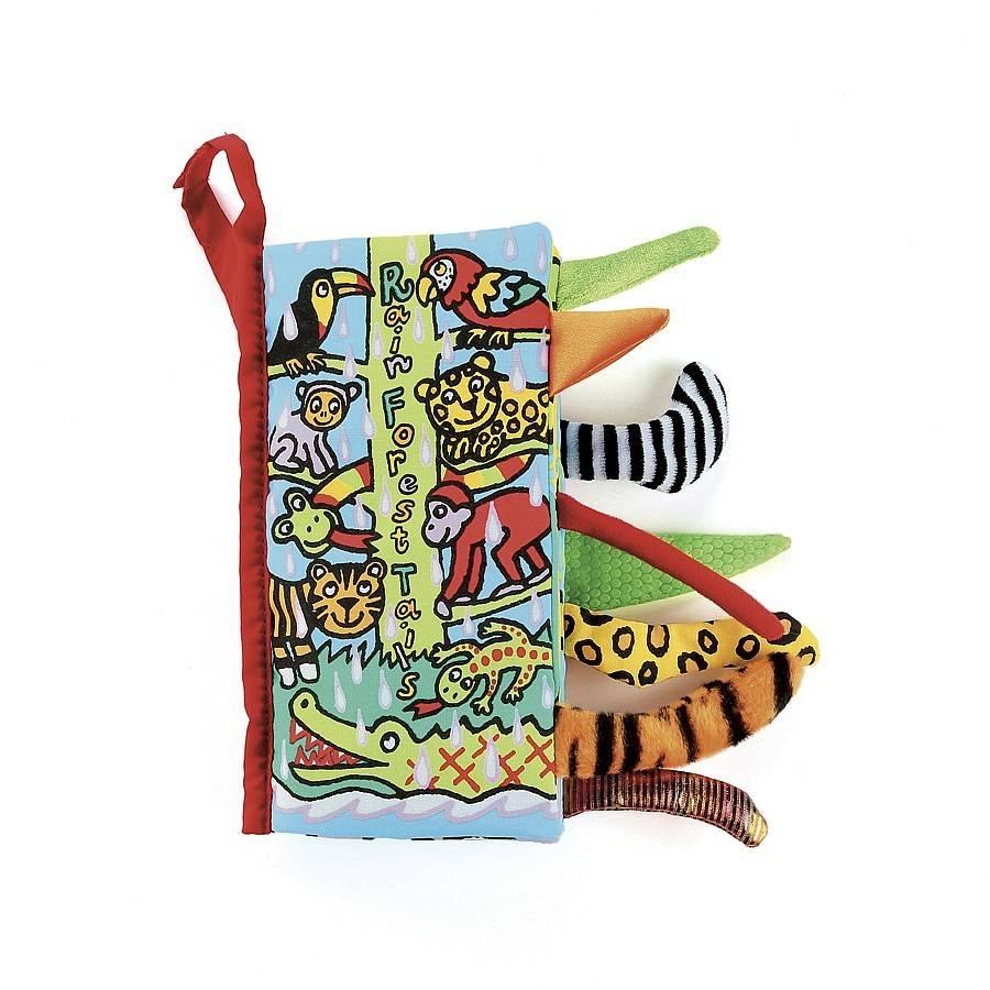JellyCat JellyCat Rainforest Tails  Soft Book
