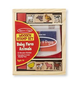 Melissa and Doug Wooden Stamp Set- Baby Zoo & Baby Farm
