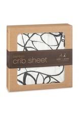 Aden + Anais Aden + Anais Moon Leafy Bamboo Crib Sheet