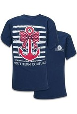 Southern Couture Southern Couture Short Sleeve Nautical Bow Anchor
