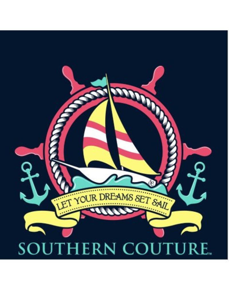 Southern Couture Southern Couture Short Sleeve Ship Wheel Tee